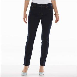 Gloria Vanderbilt Dark Wash Bridget Slim Leg Jeans